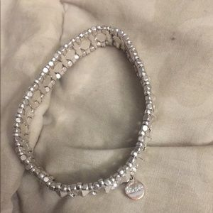 Stella and Dot stretchy silver and rhinestone